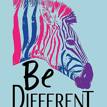 Bisexual Zebra Be Different Gay Pride LGBT by Petergv