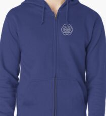 Earth Flag - Crest / Breast Patch Zipped Hoodie