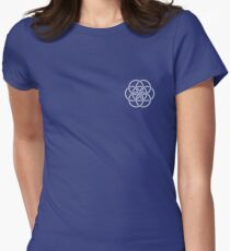 Earth Flag - Crest / Breast Patch Womens Fitted T-Shirt