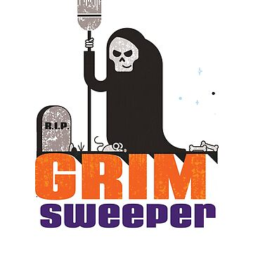 Funny Janitor Grim Reaper Custodian Pun T-Shirt Men Women by philsgiftshop