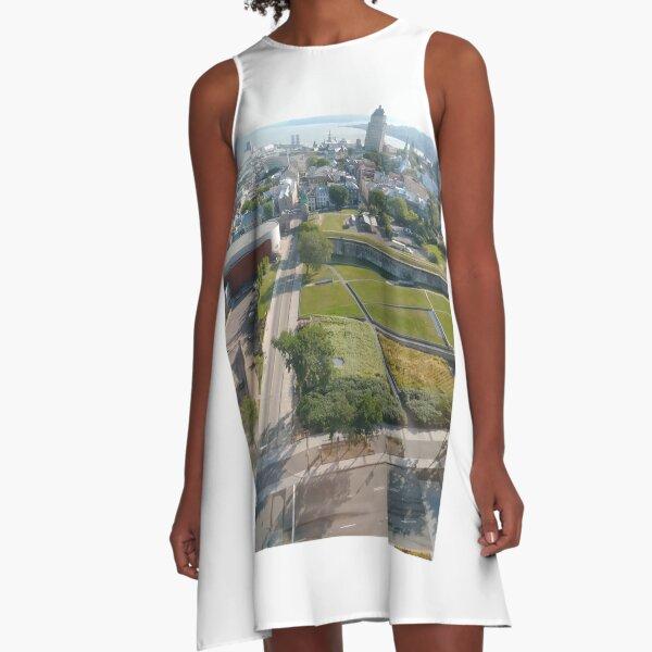 Montreal, #Montreal, Quebec City, #QuebecCity, #Quebec, #City, #Canada, #buildings, #streets, #places, #views, #nature, #people, #tourists, #pedestrians, #architecture, #flowers, #monuments A-Line Dress