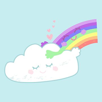 Rainbow Cloud Hug by flourishandflow