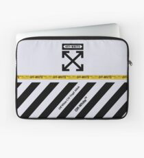 Funda para portátil Off White Cover Full rayas blancas y negras