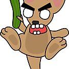 angry zombie kangaroo by shortstack