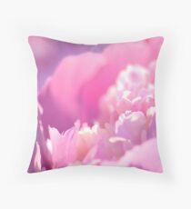 Sun Struck Carnation Throw Pillow