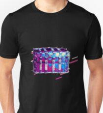 Chest box Eighties Retro Violet and Purple Unisex T-Shirt