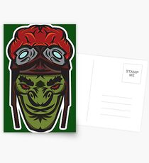 Green Goblin Rider Vector Art Postcards
