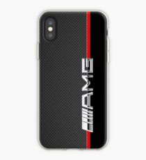 Vinilo o funda para iPhone mercedes benz amg logo carbono
