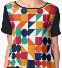 Abstract pattern circle, square, triangle Chiffon Top