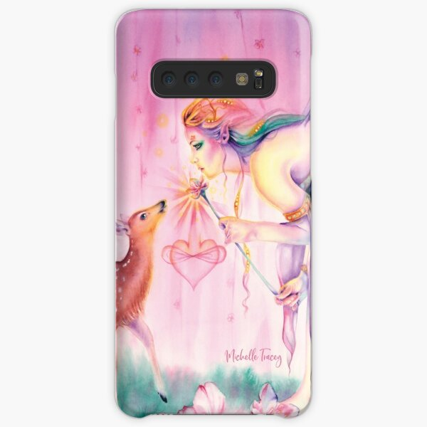 Sienna and the Deer Embrace the Cherry Blossom Tree Samsung Galaxy Snap Case