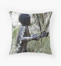 bushman Throw Pillow