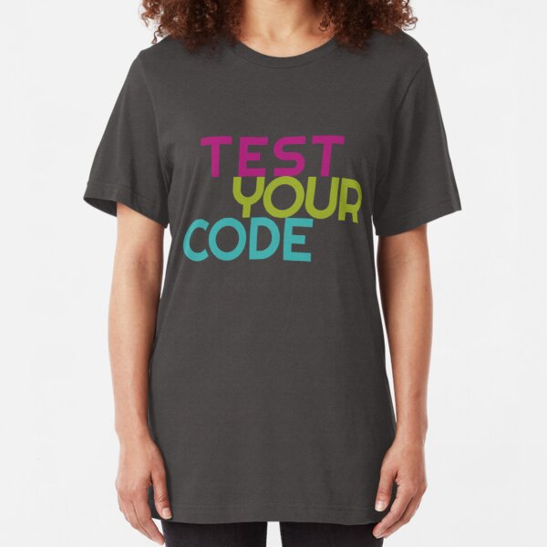 Test your code Slim Fit T-Shirt
