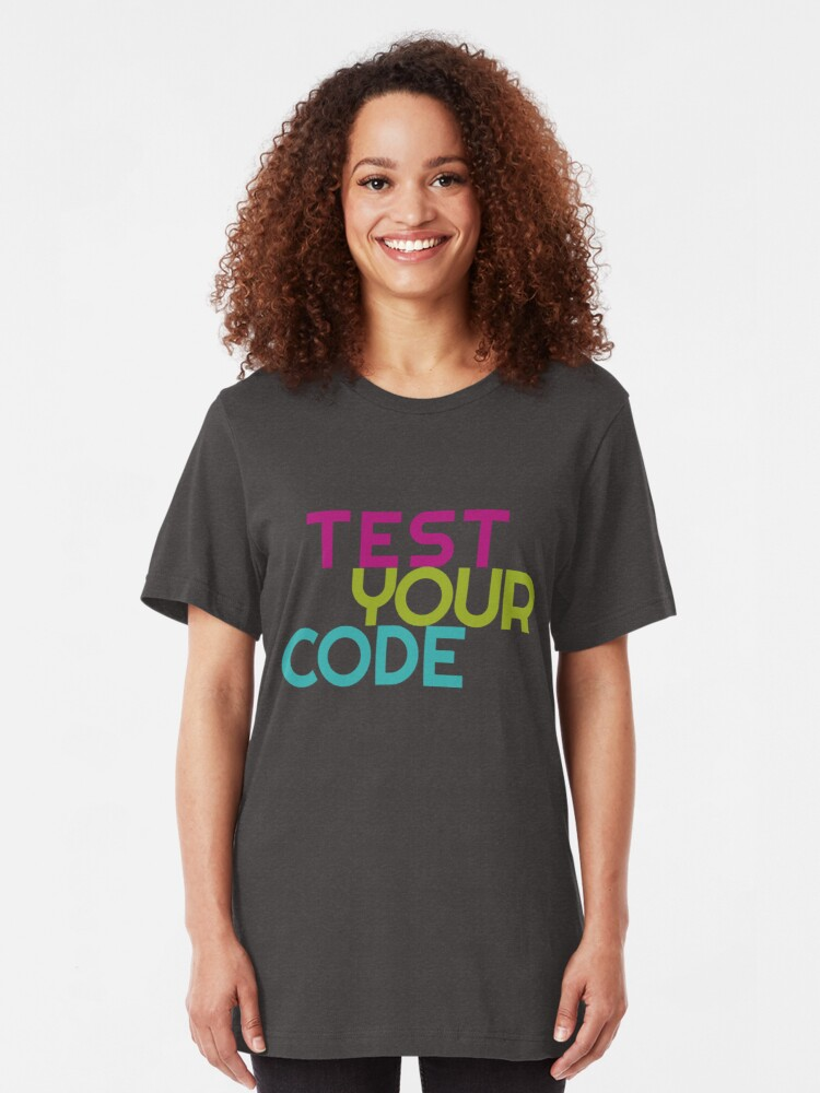 Alternate view of Test your code Slim Fit T-Shirt
