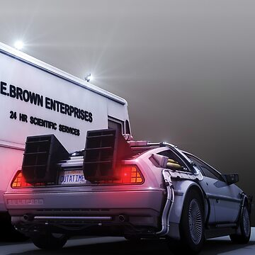 Back to the Future inspired Delorean at Twin Pines Mall, California, USA. by mlbgfx