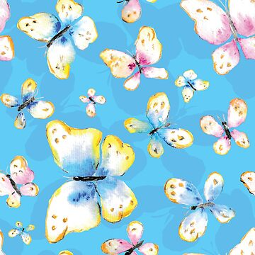 Butterfly pattern colored with watercolors by craftmania