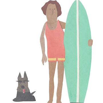 Surfer with scotty dog by sandymitchell