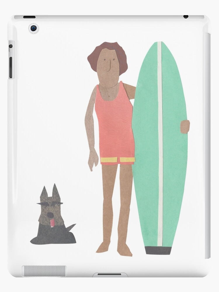 Surfer with scotty dog by Sandy Mitchell