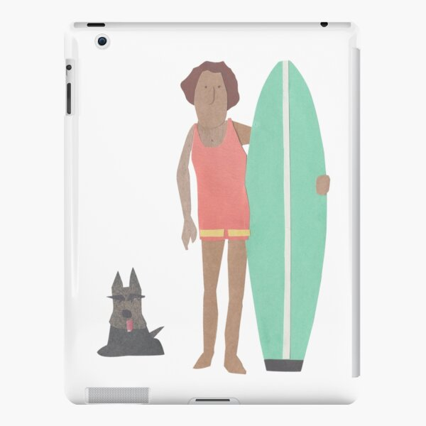 Surfer with scotty dog iPad Snap Case