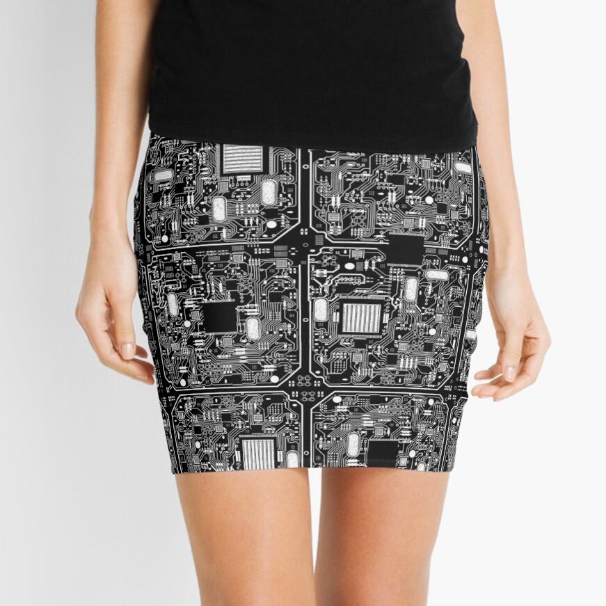 Serious Circuitry Mini Skirt