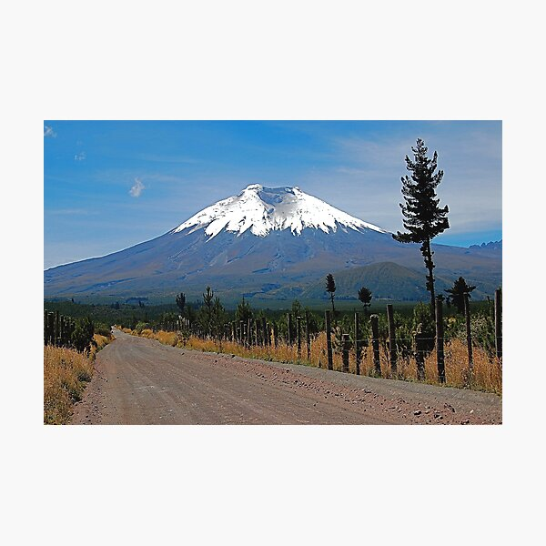 Dirt road to Cotopaxi Photographic Print