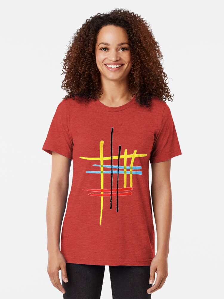 Alternate view of Memories of a kitchen table Tri-blend T-Shirt