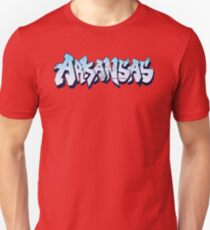 Arkansas License Plate Graffiti (By Graffiti Muscle) Unisex T-Shirt