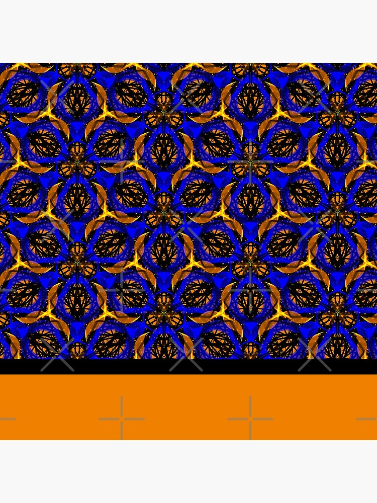 Blue yellow African print  by cardwellandink