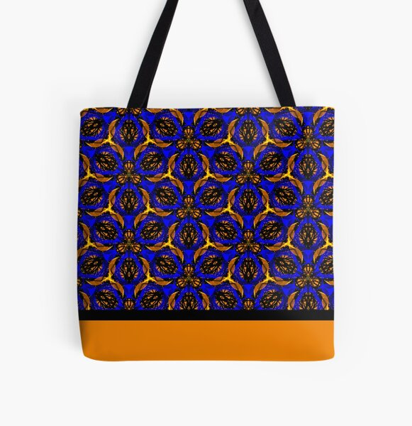 Blue yellow African print  All Over Print Tote Bag