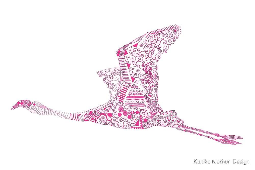Fuchsia Flamingo by Kanika Mathur  Design