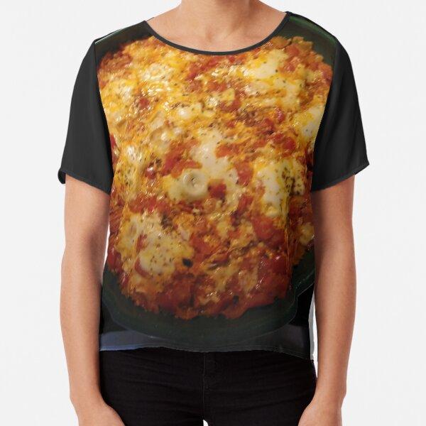 Pizza cheese, #Pizza, #cheese, #PizzaCheese, Spiral, helix, scroll, loop, volute, spire, #Spiral, #helix, #scroll, #loop, #volute, #spire Chiffon Top