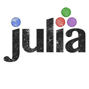 Julia programming language t shirt sticker and boards by farhanhafeez