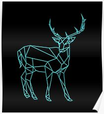 Hand drawn deer design Poster