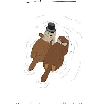 Otter Card (Wedding Edition) by maxhornewood