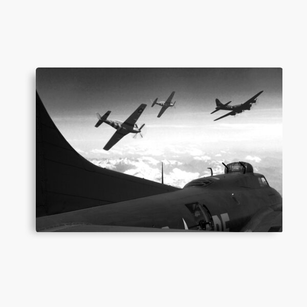 The Final Mission (Monochrome Version) Canvas Print