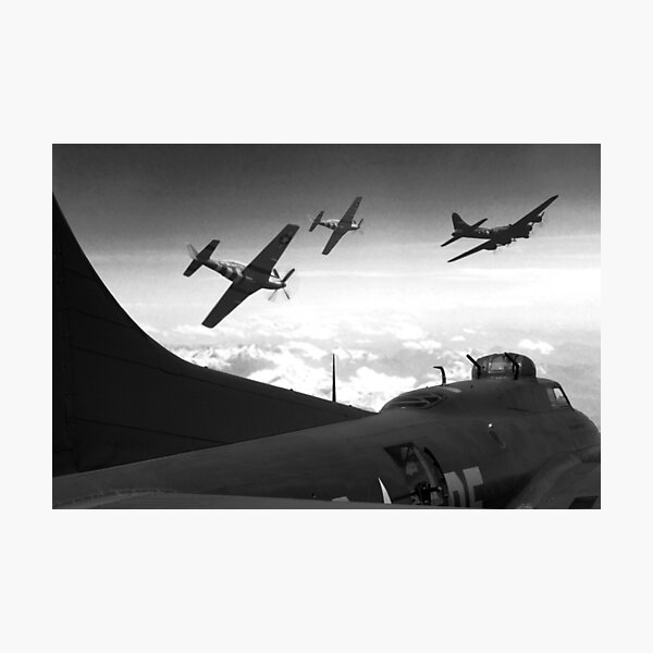 The Final Mission (Monochrome Version) Photographic Print