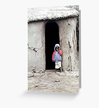 Masai Child Greeting Card