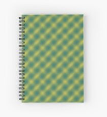 Green and Gold Plaid Spiral Notebook
