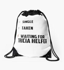 Waiting For Tricia Helfer Drawstring Bag