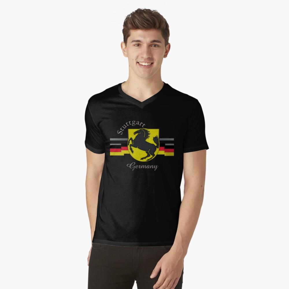 Stuttgart Horse Crest  V-Neck T-Shirt