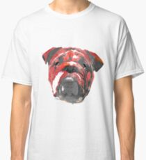 bulldog 2 watercolor dog portrait Classic T-Shirt