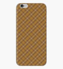Brown and Gold Plaid iPhone Case