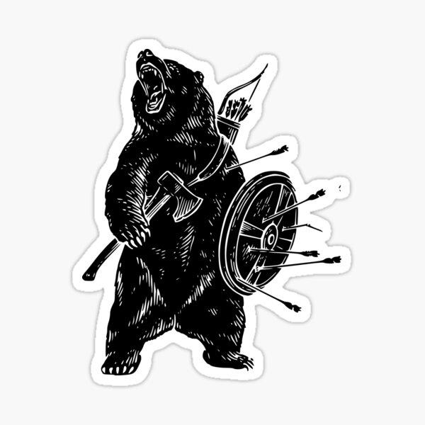 Viking Bear Sticker