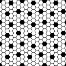 Hexagon pattern in Black and white by JollyJungle