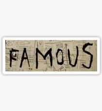 Basquiat Famous Sticker