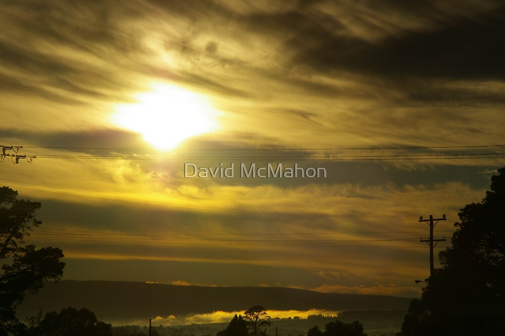 Early-Morning Caress Of Mist by David McMahon