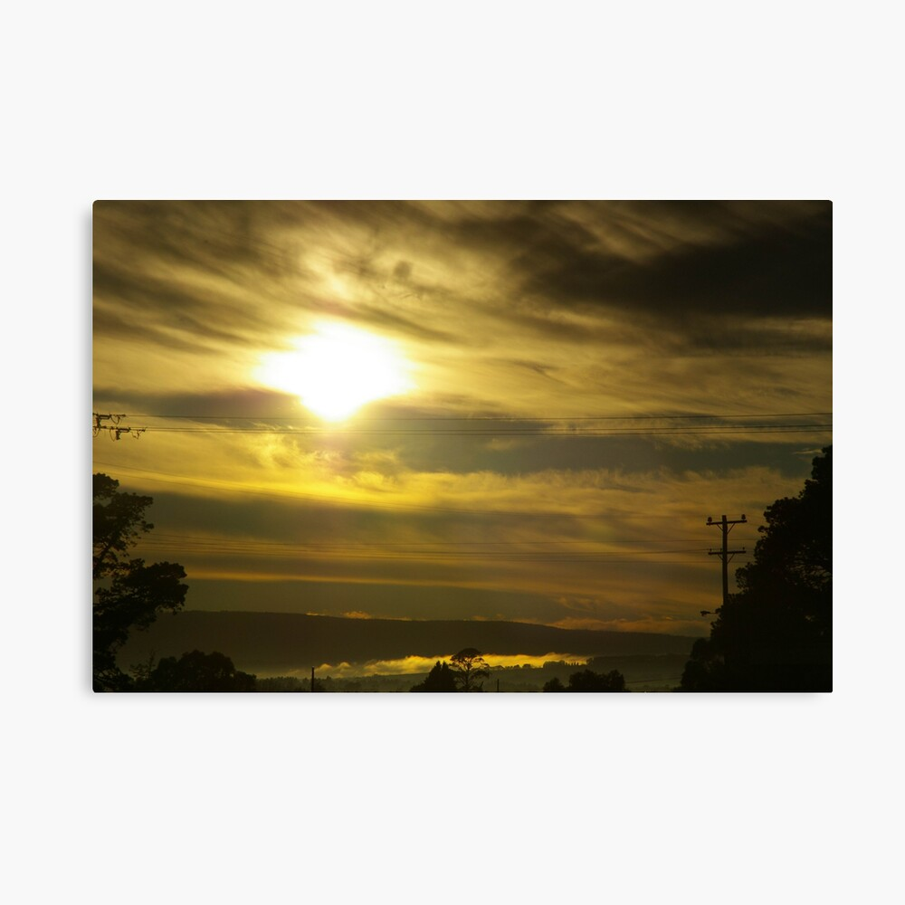 Early-Morning Caress Of Mist Canvas Print