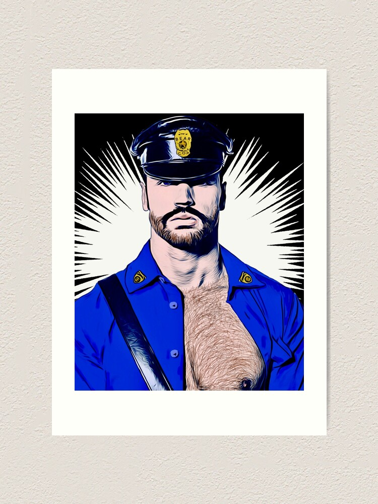 Alternate view of Bear Cop Art Print