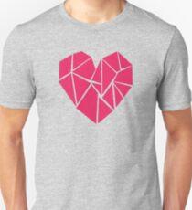 Geometric shaped heart Slim Fit T-Shirt