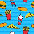 Pattern of Fast Food by Pamela Maxwell