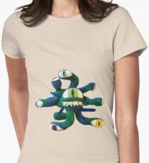 Blue/Green Beholder (Needle Felt Art) Women's Fitted T-Shirt